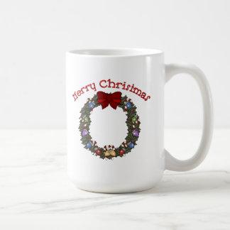Christmas Holiday Wreath - Customizable Mug