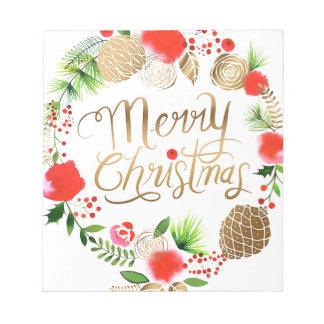 Christmas, Holidays, Decorations, Celebration Notepad