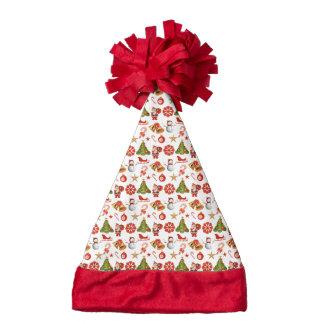Christmas holidays pattern santa hat