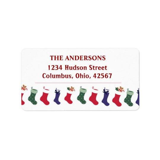 Christmas Holidays Stockings Address Label