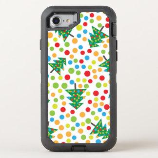 Christmas, holidays, tree decorations joy OtterBox defender iPhone 8/7 case