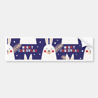 Christmas, holidays, tree decorations, pattern bumper sticker
