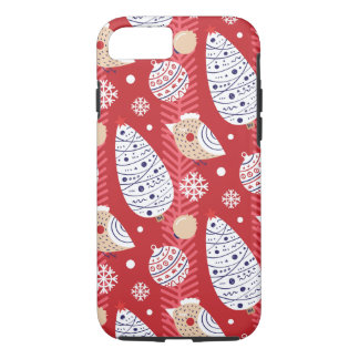 Christmas, holidays, tree decorations, pattern iPhone 8/7 case