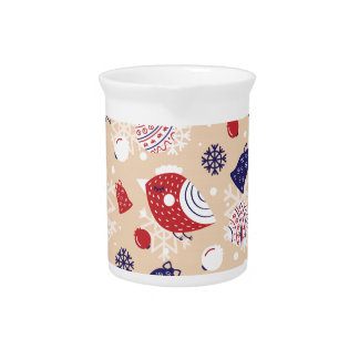Christmas, holidays, tree decorations, pattern pitcher