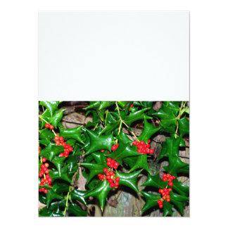 Christmas Holly 14 Cm X 19 Cm Invitation Card