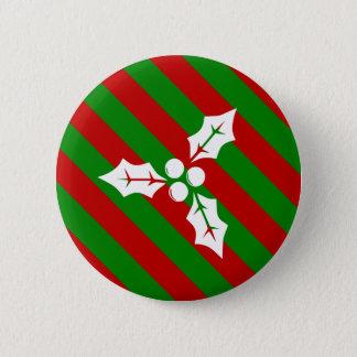 Christmas Holly 6 Cm Round Badge