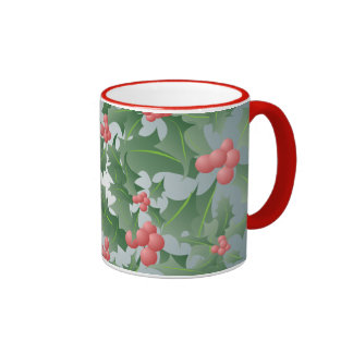 Christmas Holly and Berry Pattern Mug
