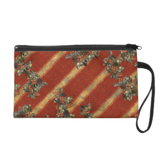 Christmas Holly Wristlet Clutch