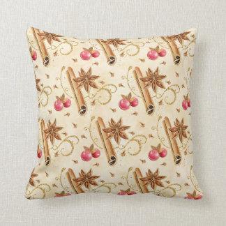 Christmas holly berries cinnamon cushion