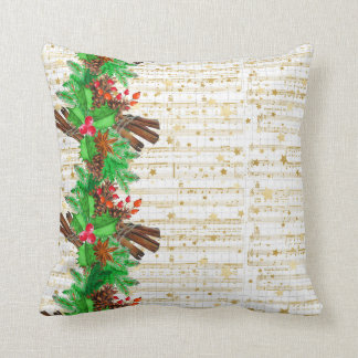 Christmas holly berries cushion