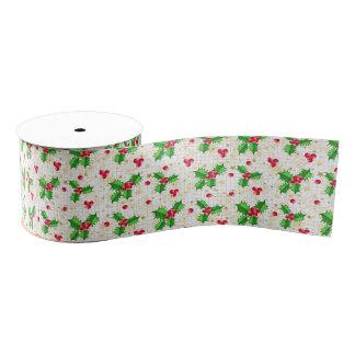 Christmas holly berries grosgrain ribbon