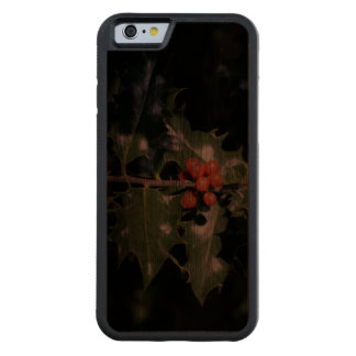 Christmas Holly Berries Walnut iPhone 6 Bumper