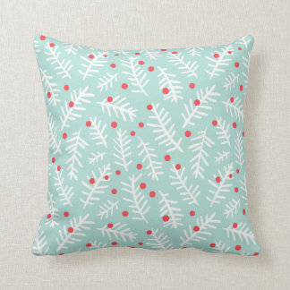 Christmas Holly Berry Throw Pillow