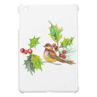 "Christmas Holly & Bird iPod Mini Case"" iPad Mini Cases"