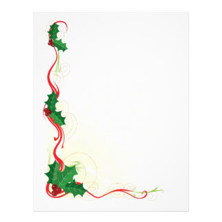 Christmas Holly Border 21.5 Cm X 28 Cm Flyer