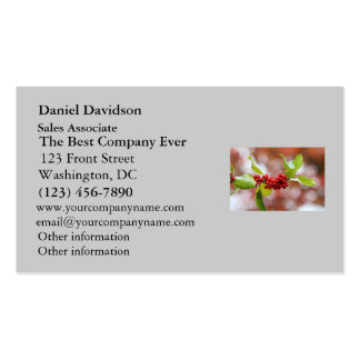 Christmas Holly Business Cards