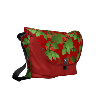 Christmas Holly Commuter Bags