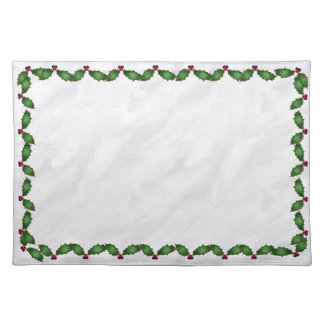 Christmas Holly Cotton Placemat