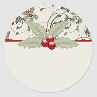 Christmas Holly Design 1 - Christmas Stickers