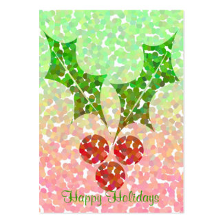 Christmas holly - Gift tag card Pack Of Chubby Business Cards