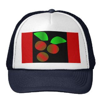 Christmas Holly II In Navy Mesh Hats