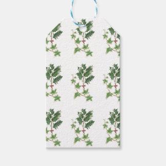 Christmas Holly & Ivy Sprig Botanical Gift Tags