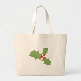Christmas Holly Jumbo Tote Bag