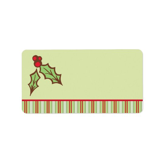 Christmas Holly Labels