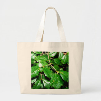Christmas Holly Leaves Canvas Bags
