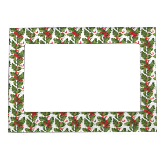 Christmas Holly Magnetic Frame