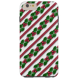 Christmas holly pattern iPhone 6 plus tough case