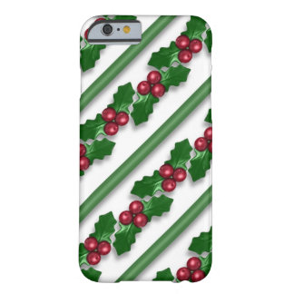 Christmas Holly pattern iPhone 6 slim case