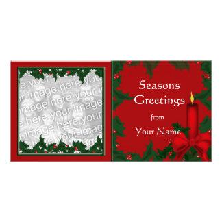 Christmas Holly Photo Card