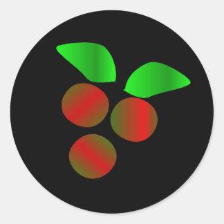 Christmas Holly Round Sticker