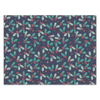 Christmas Holly Seamless Pattern Tissue Paper