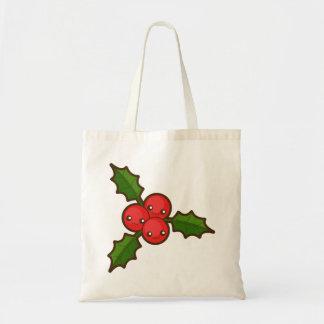 Christmas Holly Budget Tote Bag