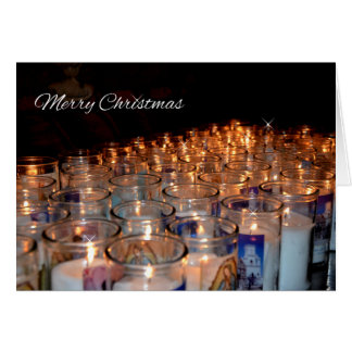 Christmas Holy Night Candles Greeting Card
