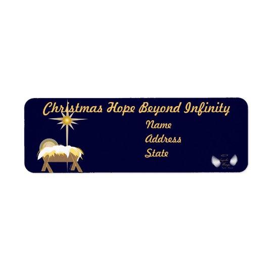 Christmas Hope Beyond Infinity-Customise Return Address Label