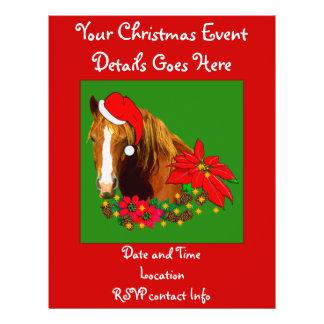 Christmas Horse 21.5 Cm X 28 Cm Flyer