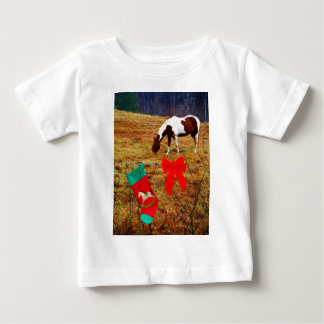 Christmas Horse Baby T-Shirt