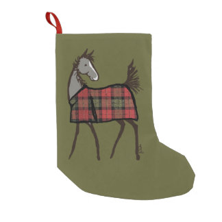 Christmas Horse Foal Equestrian Small Christmas Stocking