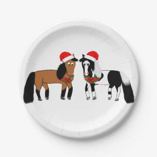 Christmas Horse Plates