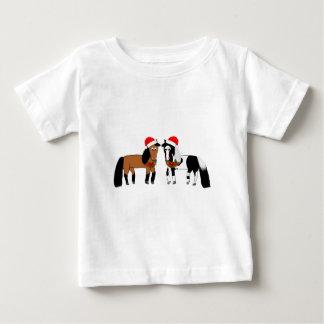 Christmas Horses Baby T-Shirt