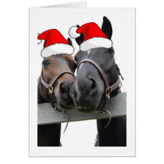 Christmas Horses Greeting Card