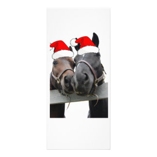 Christmas Horses Full Colour Rack Card