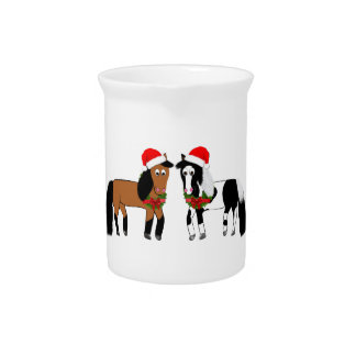 Christmas Horses Pitcher