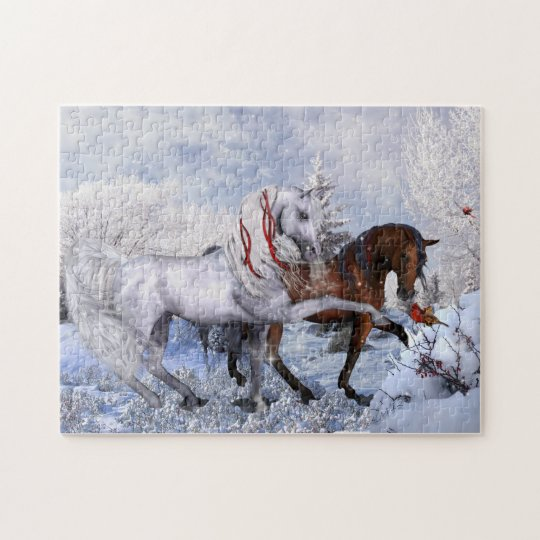 Christmas Horses Puzzle