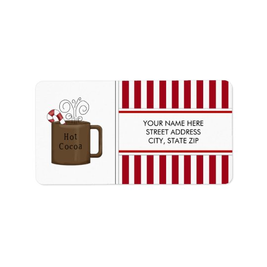 Christmas Hot Cocoa Address Mailing Labels