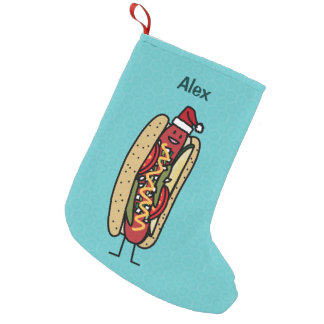 Christmas Hot Dog Chicago Style Small Christmas Stocking
