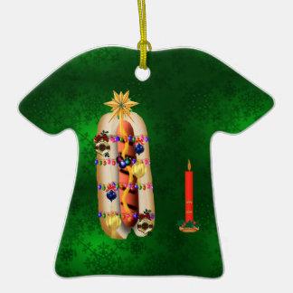 Christmas Hotdog Christmas Tree Ornament